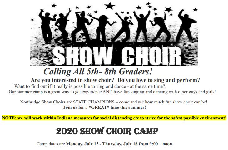Show Choir Camp Ad